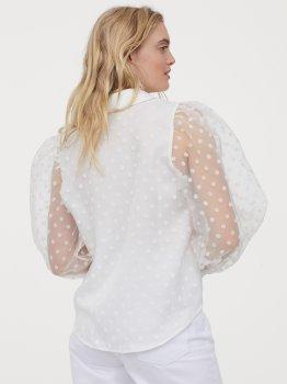 Блузка H&M 0902737-1 Біла