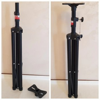 Штатив для колонок и освещения SPEAKER STAND ART SPS502 напольный высота от 100 до 180 см Черный