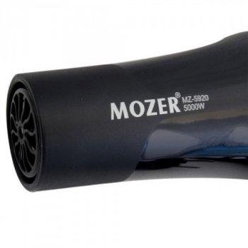 Потужний функціональний фен MOZER MZ-5920 для волосся 2 швидкості, 2 режими нагріву з холодним повітрям 5000W Black