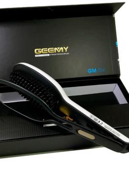 Професійна гребінець-випрямляч Geemy GM-456 Біла