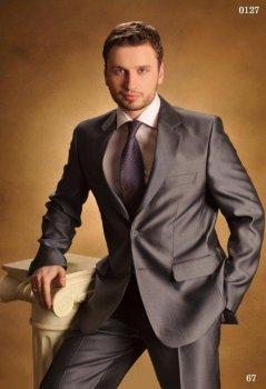 Мужской нарядный костюм West-Fashion 0127 серый 182