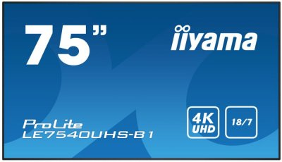 "МонІтор Iiyama 75"" LE7540UHS-B1"