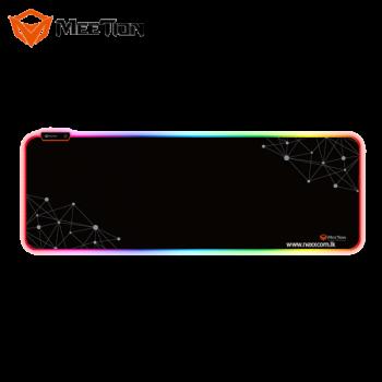 Игровая поверхность для мыши с подсветкой MEETION Backlit Gaming Mouse Pad RGB MT-PD121 black