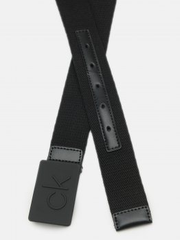 Мужской ремень Calvin Klein Jeans Ck Debossed Plaque Webbing 35Mm K50K505791-BAX 95 см Ck Black (8719852998237)