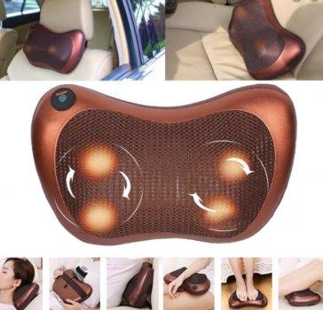 Массажная подушка Car and Home Massage Pillow 8028 для машины,офиса и дома с инфракрасным подогревом.