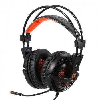 Навушники Sades A6 7.1 Surround Sound Black/Orange (SA6-BO)