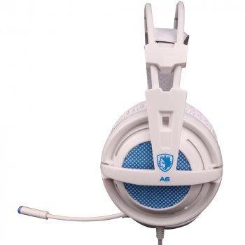 Навушники Sades A6 7.1 Surround Sound White/Blue (SA6-WB)