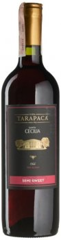 Вино Tarapaca Santa Cecilia Semi Sweet Red красное полусладкое 0.75 л 10.5% (7804436720845)