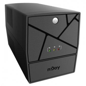 ИБП NJOY Keen 1000, Lin.int., AVR, 4 x евро, USB, пластик