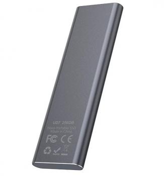 Зовнішній накопичувач SSD Type-C 256GB HOCO UD7 Сірий