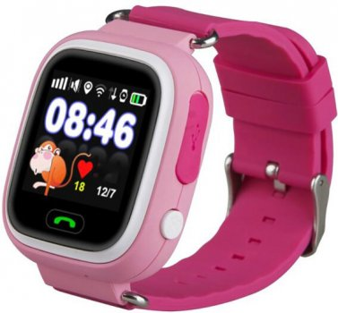 Дитячий телефон-годинник з GPS-трекером GOGPS ME K04 Pink (K04PK)