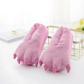 Плюшевые тапочки игрушки Коготки розовые My kigu 30 см универсальный