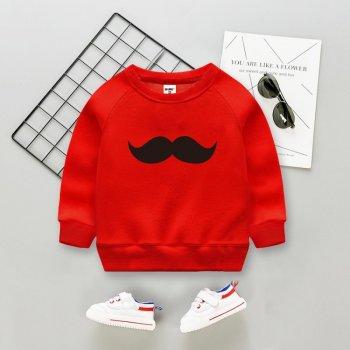 Свитшот Moustache Pingvik 8396 цвет- красный