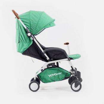 Прогулочная коляска YOYA care, рама чёрная, расцветка Зелёная
