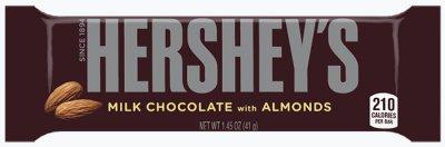 Молочный шоколад с миндалем Hershey's 41 г (03424102)