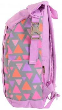 Рюкзак міський Yes Roll-top T-61 Colorful Geometry для дівчаток 0.5 кг 29х42х15 см 18 л (557309)