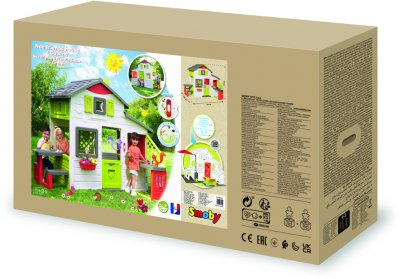 Дом для друзей Smoby Toys с летней кухней дверным звонком и столиком 217х155х172 см (810202)