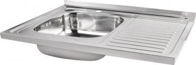 Кухонная мойка Lidz 6080-L Polish 0.6 мм (LIDZ6080LPOL06)