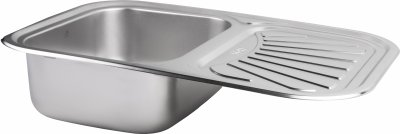 Кухонна мийка Lidz 7549 Satin 0.8 мм (LIDZ7549SAT8)