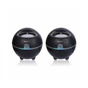 Колонки для ПК и ноутбука Kisonli S999 компактные маленькие громкие и мощные для компьютера – акустическая система + качественный звук, Черный