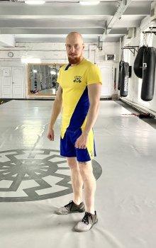 Чоловічий спортивний комплект (Футболка + шорти) Grade b-yellow 1.0 FitU Жовтий