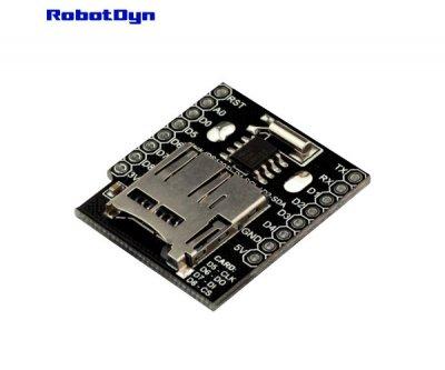 Модуль з RTC DS1307 і MicroSD дата логгер для Wemos WiFi mini