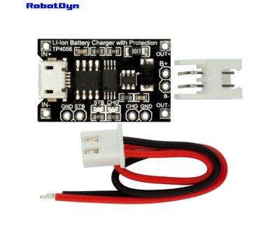 Модуль для зарядки Li-Ion акумуляторів із захистом TP4056 Robotdyn