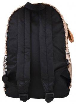 Рюкзак молодежный с пайетками Yes GS-01 Gold для девочек 0.3 кг 29х39х11 см 13 л (557676)