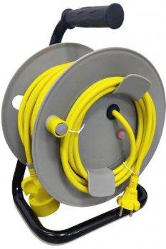Подовжувач на котушці 2Е 1 розетка 20 м Yellow (2E-U01R20M)
