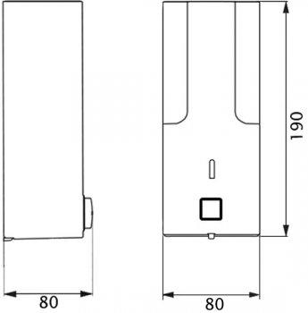 Дозатор для рідкого мила LIDZ (PLA)-120.01.01