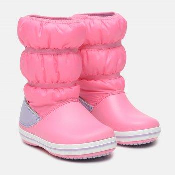 Сапоги Crocs Kids' Crocband Winter Puff Boot 206550 Pink Lemonade/Lavender