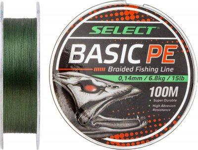 Шнур Select Basic PE 100 м 0.26 мм 45 lb / 20.8 кг Темно-зеленый (18702768)
