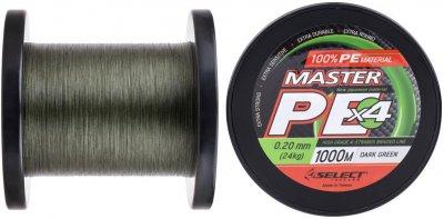 Шнур Select Master PE 1000 м 0.14 мм 17 кг Темно-зеленый (18700188)