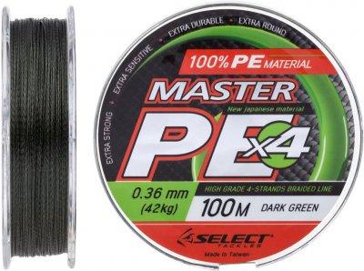 Шнур Select Master PE 100 м 0.36 мм 42 кг Темно-зеленый (18701598)