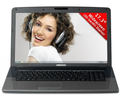 Ноутбук Medion Akoya E7220-Intel Core i3-2310M-2,10Hz-4Gb-DDR3-320Gb-HDD-W17.3-DVD-RW-Web- Б/В