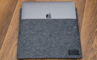 Чехол Babel's Craft Plain для MacBook Air 13 (M1, 2020-2018), серый войлок