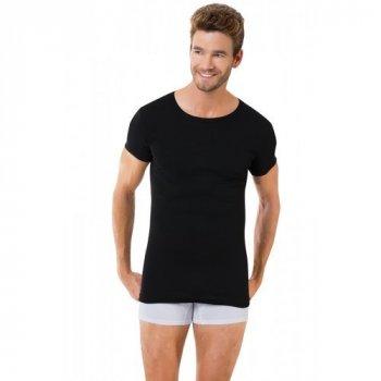 Чоловіча футболка Oztas 1059-A чорна 100% бавовна