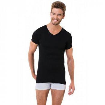 Чоловіча футболка Oztas 1061-A чорна 100% бавовна