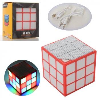 Дитяча портативна музична колонка Куб ICUTES, Кубик Рубіка, з підсвічуванням і Bluetooth, 7*7 см, Сube Speaker Original