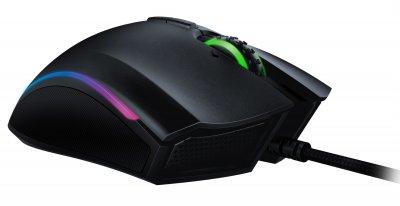 Провідна ігрова миша з підсвіткою Razer Mamba Elite Black (RZ01-02560100-R3M1)