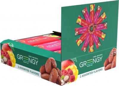 Упаковка батончиков Greengy Ассорти фруктовое 40 г х 12 шт (4820221320628)
