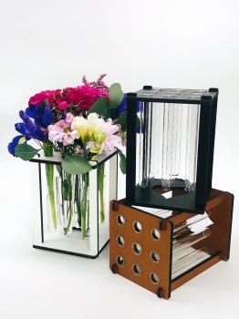 Ваза-підставка для квітів Flowlife з колбами Коричнева (2000992406932)