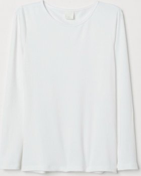 Лонгслив H&M 0662593-8 Белый