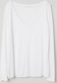 Лонгслив H&M 0672598-8 Белый