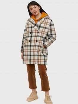 Пальто H&M 0699617-0 Бежевое