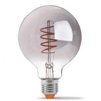 Світлодіодна лампа VIDEX Neoclassic G95FGD 4W E27 2100K 220V филаментная з діммером чорний опал (VL-G95FGD-04272)