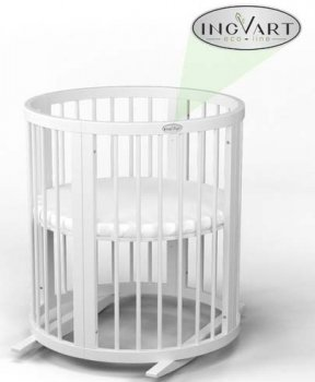 Кроватка трансформер IngVart белая с ионами серебра (34100)