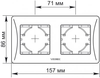Подвійна рамка VIDEX Binera горизонтальна Біла (VF-BNFR2H-W)