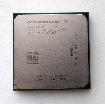 Процесор AMD Phenom II X2 550 Black Edition 3,1 GHz sAM3 Tray 80w (HDZ550WFK2DGI) Callisto Б/У