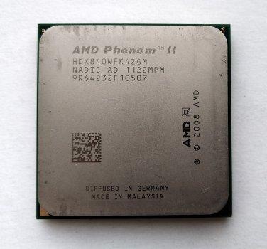 Процесор AMD Phenom II X4 840 3,2 GHz sAM3 Tray 95w (HDX840WFK42GM) Propus Б/У